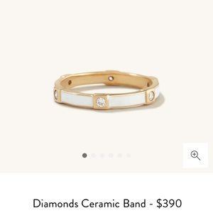 Mejuri diamonds ceramic band